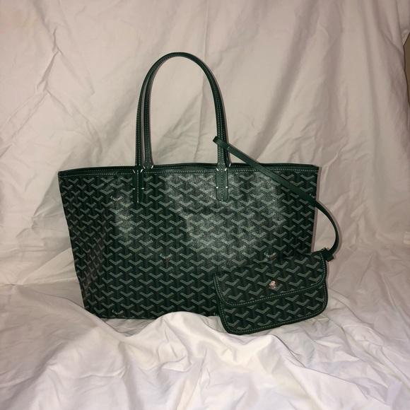 Goyard Bags   Green Ine Saintlouis Pm   Poshmark 90893e78504